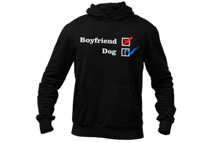 NO Boyfriend - Dog 1 -- Collection -- Black Pullover Hoodie --- Wear Pet