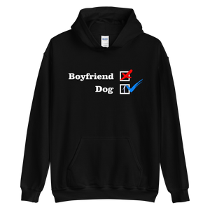 NO Boyfriend - Dog 1 -- Collection - Black Unisex Pullover Hoodie --- Wear Pet