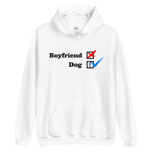 NO Boyfriend - Dog 1 -- Collection - White Unisex Pullover Hoodie --- Wear Pet