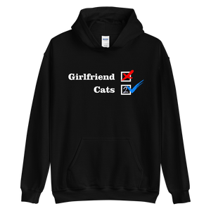 NO Girfriend - Cats 2 -- Collection - Black Unisex Pullover Hoodie --- Wear Pet
