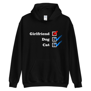NO Girlfriend - Dog 1 - Cat 1 -- Collection -- Black Unisex Pullover Hoodie --- Wear Pet