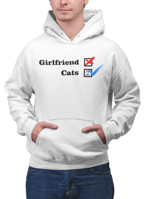 Photo-of-a-man-wearing-a-white-pullover-hoodie-- NO Girlfriend - Cats 2 - Collection --- Wear-Pet