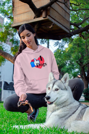 Photo-of-a-girl-wearing-a-pink-hoodie-with-her-dog-at-her-backyard-WearPet-I-like-dogs