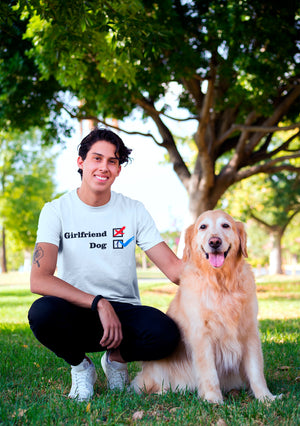 Photo-of-a-man-crouching-next-to-his-dog-NO-Girlfriend-white-t-shirt---Wear-Pet