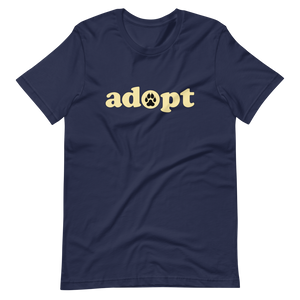 ADOPT - Black or Navy Unisex T-Shirt - Wear Pet