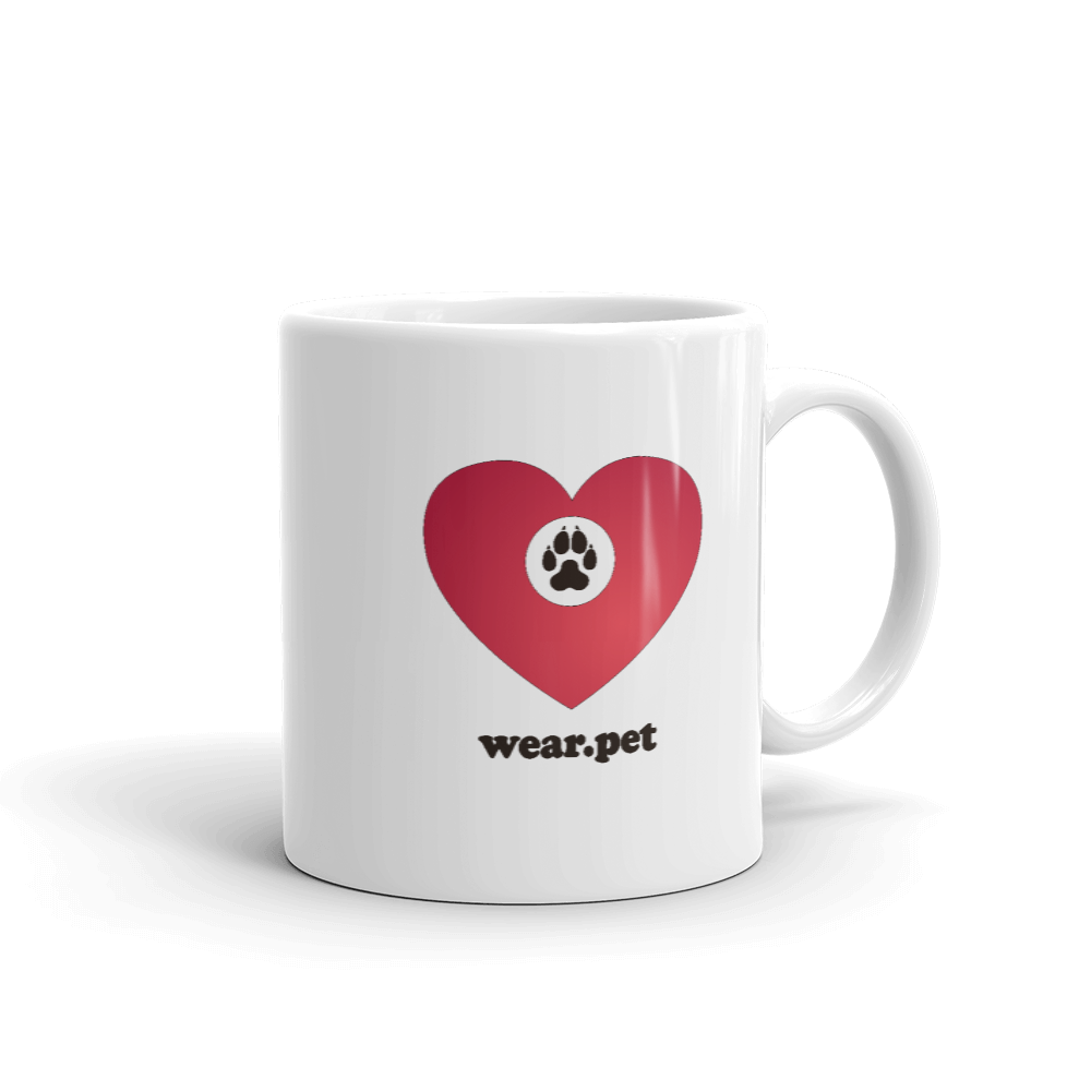 DOG MOM - 11oz Mug - Black & Red - Wear Pet