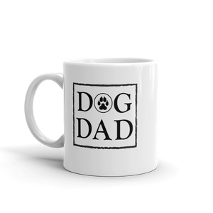 Dog Dad Mug - Black & Heart - Wear Pet