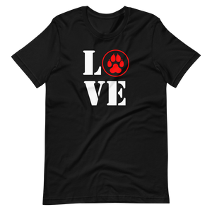 I Love Pets - Black Unisex T-Shirt - Wear Pet