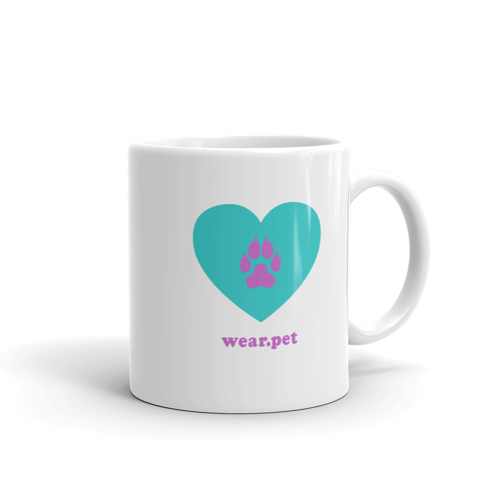 DOG MOM - 11oz Mug - Green & Lilac - Wear Pet