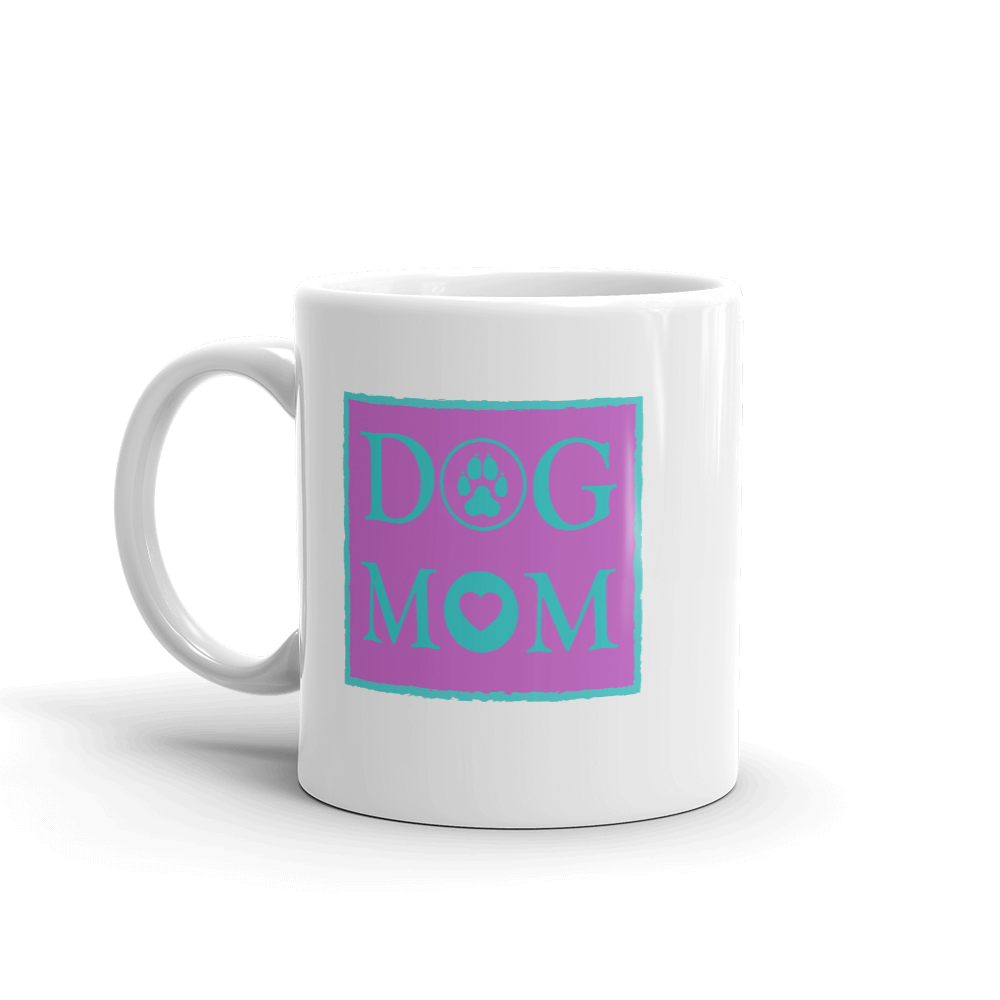 DOG MOM - 11oz Mug - Lilac & Green - Wear Pet