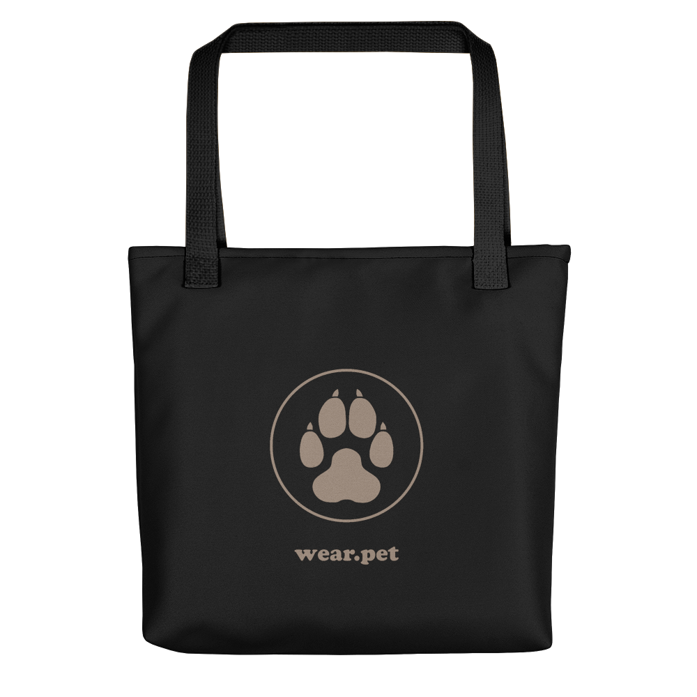 Dog MOM - Black & Caki - Tote Bag - Wear Pet