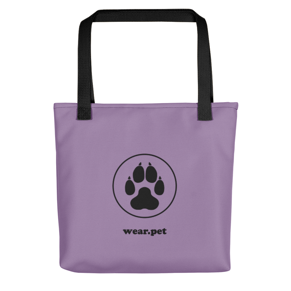 DOG MOM - Violet & Black - Tote Bag - Wear Pet