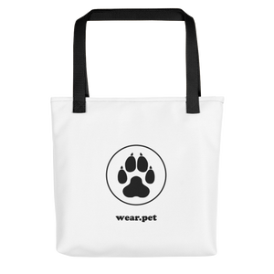 DOG MOM - White & Black - Tote Bag - Wear Pet
