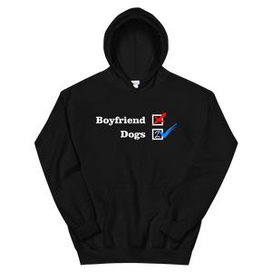 ❌ NO Boyfriend | Dogs 2 ✔ - Black Unisex Pullover Hoodie - Wear Pet