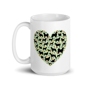 DOGs LOVER - 15oz White Ceramic Mug - Wear Pet