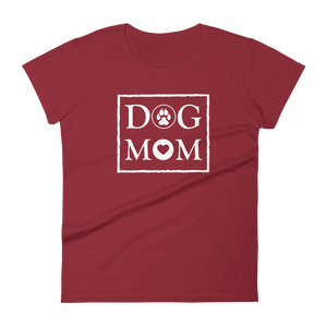 DOG MOM - Women's Black or Red T-shirt - Wear Pet
