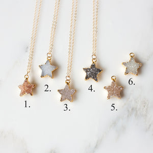 Celeste Druzy Star Necklace