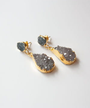 Sloane Luxe Druzy Post Earrings