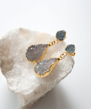 Load image into Gallery viewer, Sloane Luxe Druzy Post Earrings