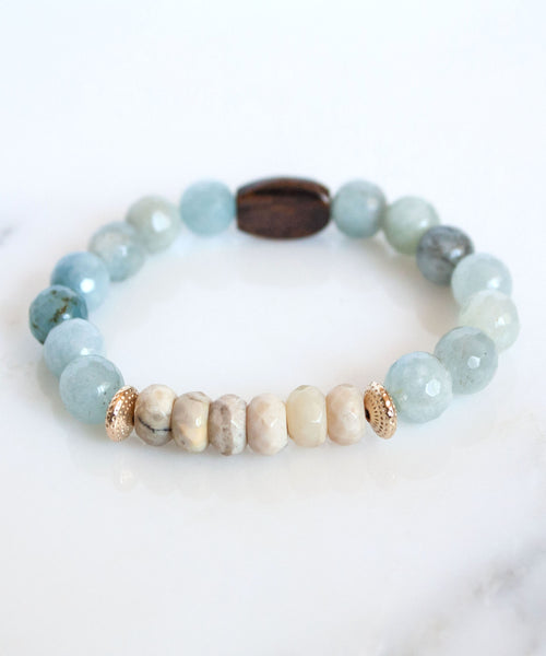 Hampton B&B Stack Bracelet | Aquamarine