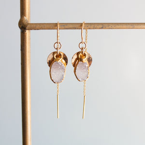 Addy Shield Threader Earrings