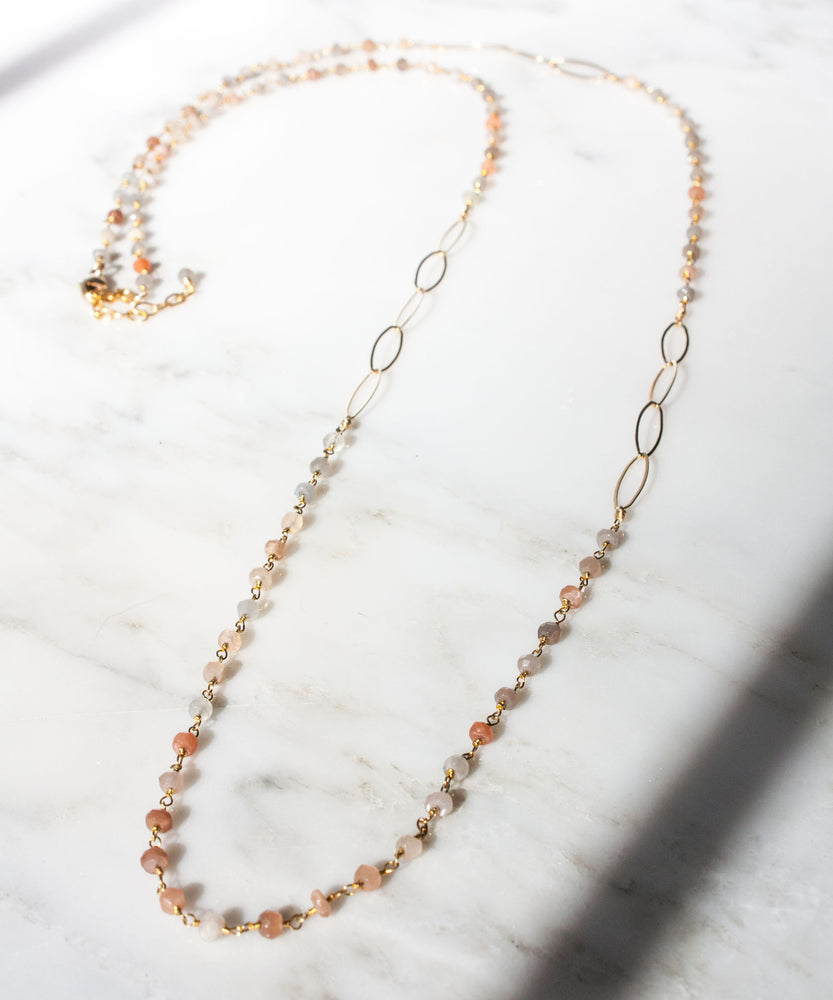 Kate Layering Necklace | Multi Moonstone