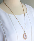 Jane Geode Rosary Necklace