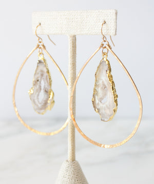 Jane Geode Statement Earrings