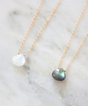 Brie Pendant Necklace | Moonstone