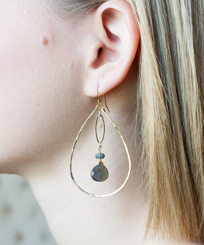 Brie Marquis Drop Earrings | Labradorite