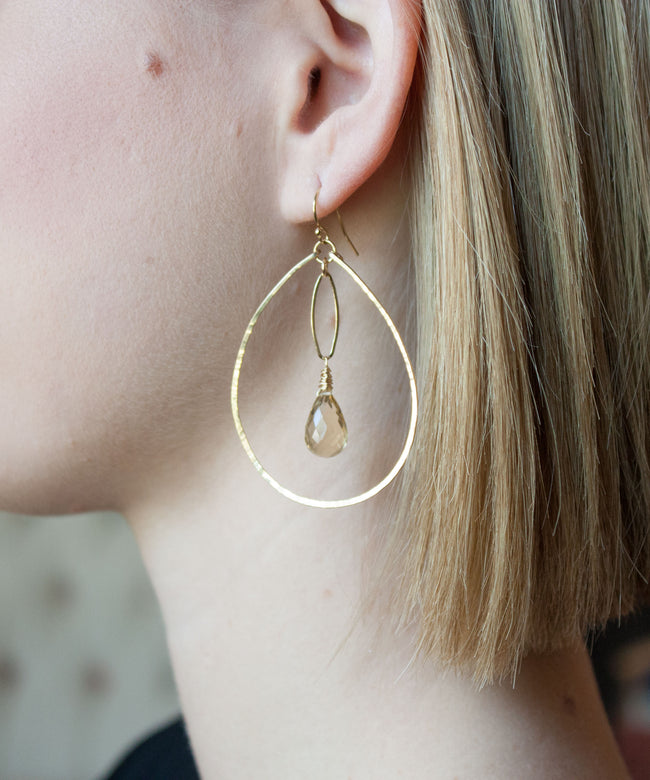 Genevieve Marquis Drop Earrings