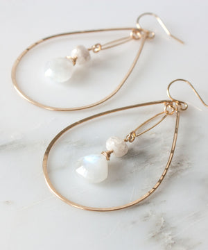 Brie Marquis Drop Earrings | Moonstone