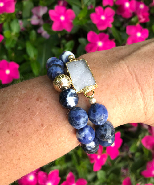 On Point Stack Bracelet | Sodalite