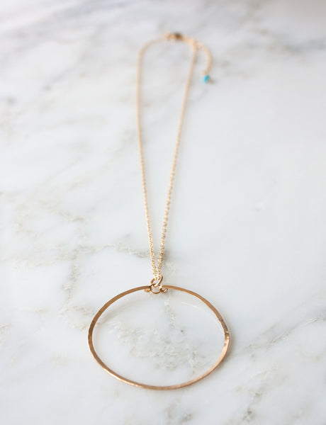 "Catalina Circle Necklace | 2"" Large"