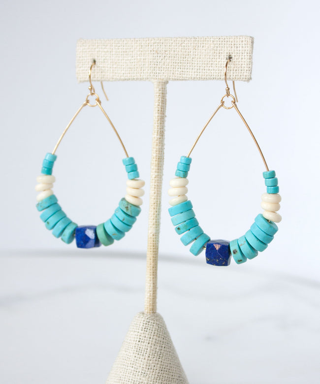 Catalina Banded Teardrop Earrings