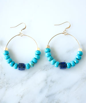 Catalina Beaded Hoop Earrings