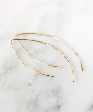Alex Arc Threader Earrings | Silver