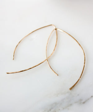 Alex Arc Threader Earrings | Gold