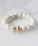 Lattice Stack Bracelet | White Turquoise