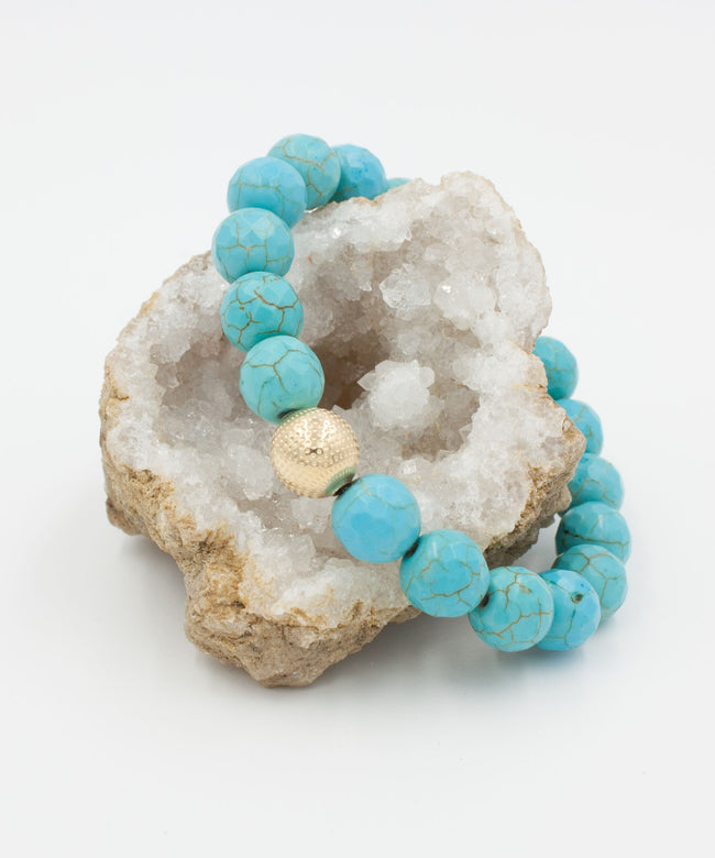 On Point Stack Bracelet | Magnesite
