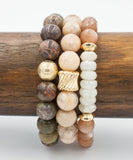 Gold Twist Stack Bracelet | Sunstone