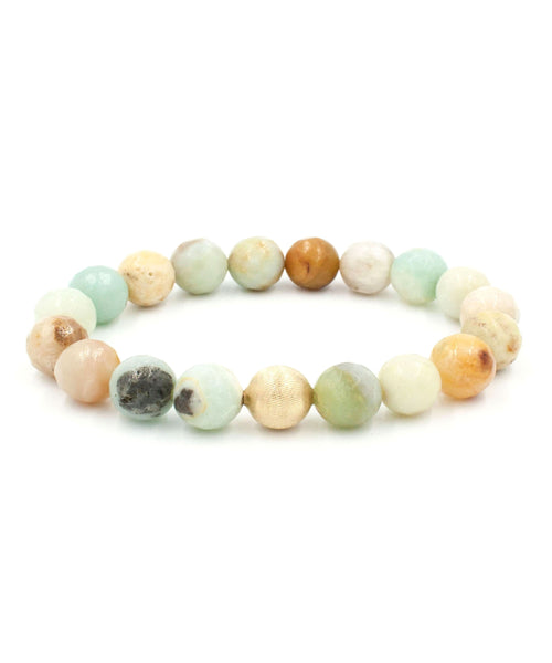 Satin Stack Bracelet | Multi Amazonite