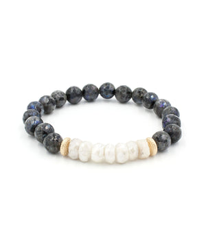 Load image into Gallery viewer, Camille Moonstone Accent Bracelet | Labradorite