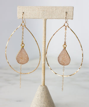 Della Druzy Teardrop Earrings | Large