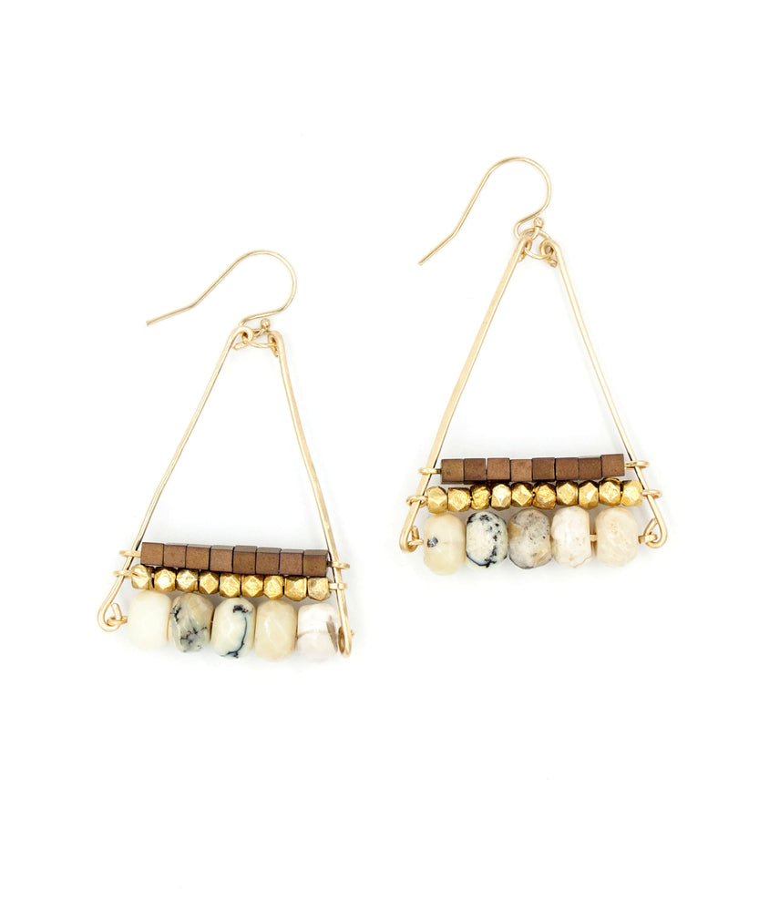 Cleo Triple Pyramid Earrings