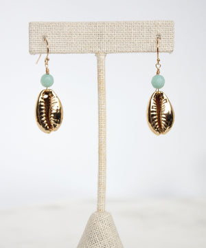 Kaia Cowrie Drop Earrings