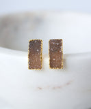 Zara Druzy Bar Stud Earrings