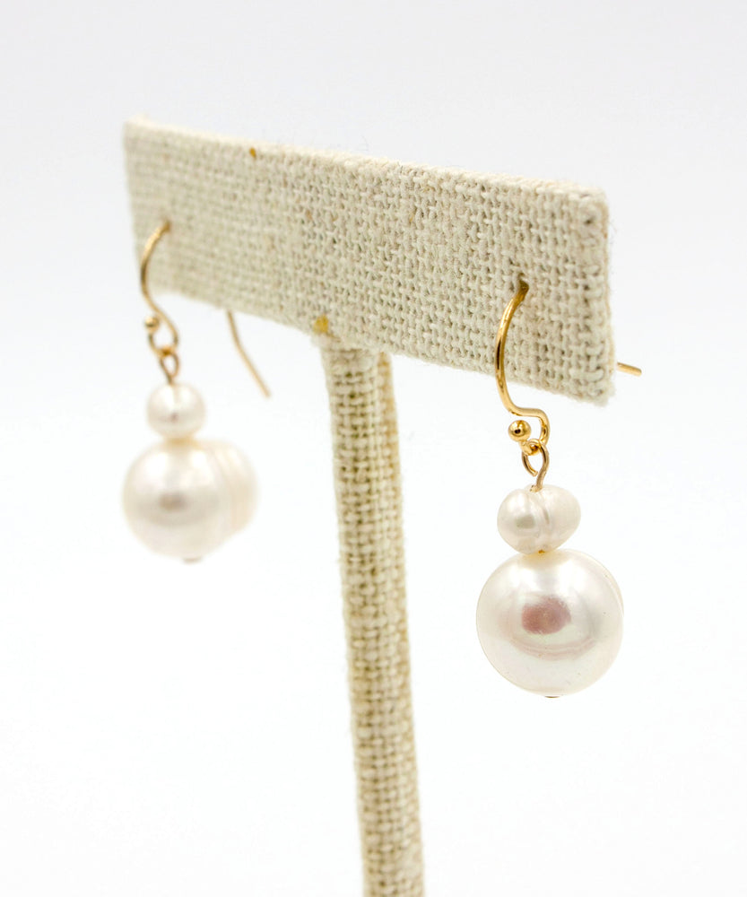 Load image into Gallery viewer, Kaia Double Pearl Earrings