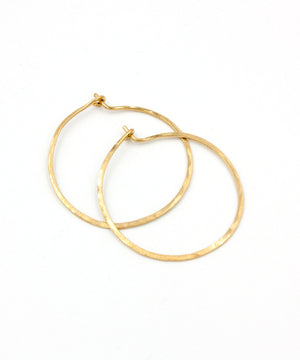 Olivia Petite Hoop Earrings 1.25""