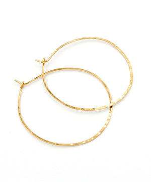 Olivia Large Hoop Earrings 2""